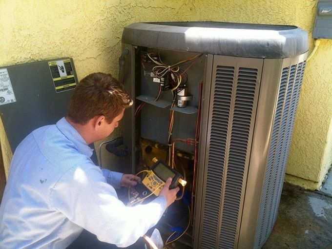 HVAC Technician Performing an AC Tune-Up